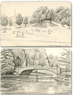 Prospect Park moleskine sketches