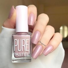 Pastel Pure 607 We talked to nail-care experts to see exactly prior to buying be going after for you Nail Manicure, Gel Nails, Acrylic Nails, Acrylic Nail Designs, Nail Art Designs, Cute Nails, Pretty Nails, Pink Gel, Gel Nagel Design