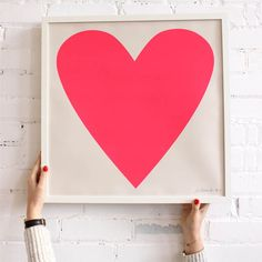 Neon Heart Screen Print From Baba Souk