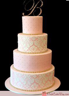 blush pink cake