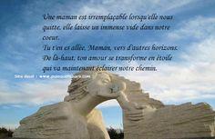 Espace Deuil Réconfort: Panneau de condoléances pour le décès d'une maman