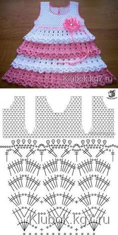 Captivating Crochet a Bodycon Dress Top Ideas. Dazzling Crochet a Bodycon Dress Top Ideas. Crochet Baby Dress Pattern, Baby Dress Patterns, Baby Knitting Patterns, Crochet Patterns, Baby Girl Crochet, Crochet Baby Clothes, Crochet For Kids, Diy Crafts Crochet, Knit Baby Sweaters