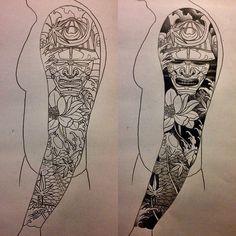 Japanese tattoo sketches design awesome tattoo japanese style sleeve tattoo flowers koi samurai to gallery of Full Sleeve Tattoo Design, Sketch Tattoo Design, Full Sleeve Tattoos, Tattoo Sketches, Asian Tattoo Sleeve, Tattoo Drawings, Tattoo Japanese Style, Japanese Tattoo Designs, Japanese Sleeve Tattoos