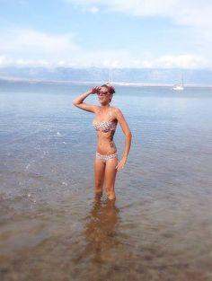 Zumi and our dotted bikini in Croatia :)