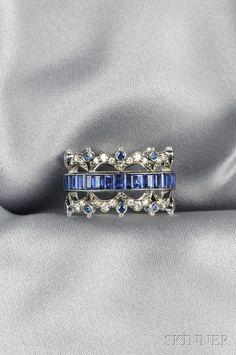 Trendy Diamond Rings : White Gold, Sapphire, and Diamond Band, Fred Leighton, channel-set with eme. - Buy Me Diamond I Love Jewelry, Fine Jewelry, Jewelry Design, Fancy Jewellery, Unique Jewelry, Custom Jewelry, Handmade Jewelry, Jewellery Making, Luxury Jewelry