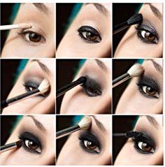 Tutorial  #makeup  #long hair  eyeliner