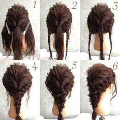 How to do the Messy Mermaid Braid – Lavish Braids Front Hair Styles, Curly Hair Styles, Fancy Hairstyles, Braided Hairstyles, Indian Wedding Hairstyles, Aesthetic Hair, Bridesmaid Hair, Hair Designs, Hair Looks