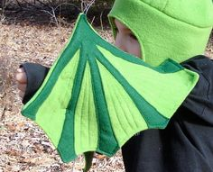 Green Dragon Wings And Hat Set for Imaginations in Motion