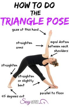 Best workout tip   Yoga Poses   Workouts For Beginners  Triangle Pose  (Utthita Trikonasana) is a basic pose taught in beginner classes s b3b43ebb1c1