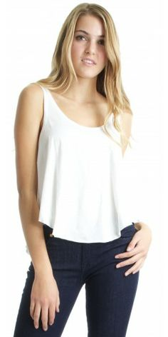 RVCA Label Drape Tank in Vintage White - Urban Laundry (urbanlaundry.com)