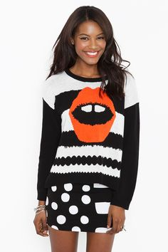 Hot Lips Knit on sale $79 #nastygal