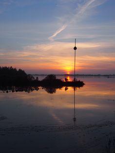 ondergaande zon 31 oktober 2015 bayke foto
