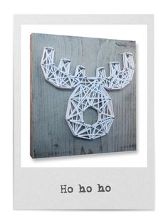 String-art DIY christmas package including wood panel (20x20cm), nails, string and a pattern in shape of a star, heart, tree, angel and moose. For each box you can choose which pattern, what color string and what type of nails you like. Now available in our web shop spijkerpatroon.nl