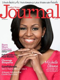 Michelle Obama graces the cover of the September 2012 issue of Ladies Home Journal.  Lovely, as usual. :-)