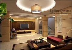 gypsum board ceiling design for living room