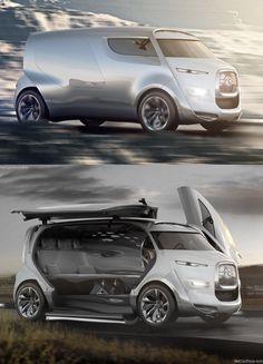 Camper van - Citroen Tubik Click Visit link above for more options Ford Gt, Toyota Concept Car, Citroen Concept, Audi Tt, Vw California Beach, Baggers, Electric Car Concept, Cars Vintage, Vanz