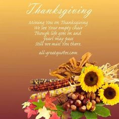 missing a loved one on thanksgiving poems - Google Search