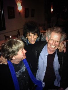 """voodoolounge: """" Mick Taylor, Ronnie Wood and Keith Richards having time together yesterday in New York City. Keith Richards, Bad Pic, Ron Woods, Like A Rolling Stone, Ronnie Wood, Charlie Watts, Lady Jane, Music Photo, Bands"""