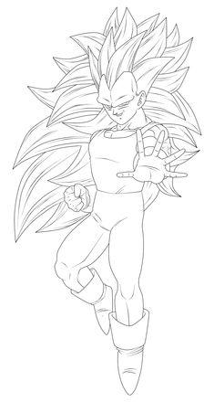 Vegeta by on DeviantArt Dbz Drawings, Easy Drawings, Goku Drawing, Manga Drawing, Arte Horror, Dragon Ball Gt, Cartoon Art, Chibi Naruto Characters, Mc 12