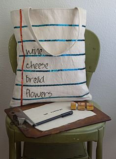 notebook paper tote