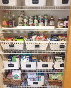 Give this girl a pantry to organize and you've given her the world This one turned out to be my quickest pantry makeover to date - just… World Food Organization, Kitchen Organization Pantry, Home Organization Hacks, Pantry Ideas, Interior Design Living Room, Living Room Designs, Small Space Interior Design, Pantry Makeover, Closet Remodel