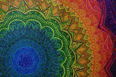 Rainbow Mandala - Pentel markers. Shot using Canon EOS D30