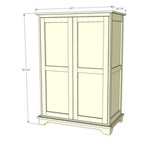Ana White | Toy or TV Armoire - DIY Projects