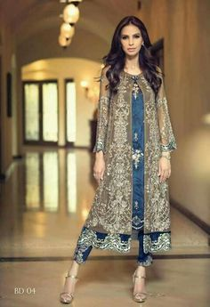Today launched the latest Fancy Eid dresses 2017 for girls by Pakistani designers and collect Pakistani fancy dresses images to send wishes to your family Pakistani Couture, Pakistani Outfits, Indian Outfits, Pakistani Frocks, Indian Anarkali, Pakistani Party Wear, Eid Outfits, Wedding Outfits, Wedding Dress