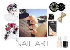 """""""diy fav nails"""" by asoles2011 ❤ liked on Polyvore featuring Elegant Touch and Essie"""