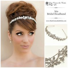 Rhinestone Floral Bridal Headband by Hair Comes the Bride - Bridal Hair Accessories & Jewelry