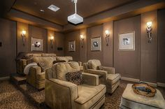 LOVE everything about this movie room!!