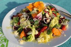 The Café Sucré Farine: Strawberry and Clementine Salad with Lemon-Shallot Dressing