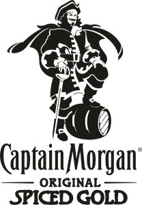 Logo of Captain Morgan Captain Morgan, Morgan 4, Decorated Wine Glasses, Logo Branding, Logos, Drinks Logo, Premium Logo, Vector Free Download, Vector Format