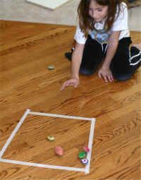 A David & Goliath themed game ala marbles