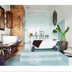 Our most popular pin last week at Moss Cottage was... voila! This gorgeous bathroom! www.moss.ie