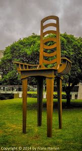 Giant chair in the park of the Oscar Niemeyer Museum, Curitiba ~ Frans Harren Photography
