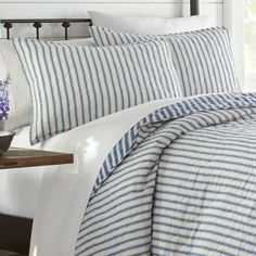 Willow Way Ticking Stripe Quilt Set - Stone Cottage : Target Striped Bedding, Striped Quilt, Ticking Stripe, Navy Quilt, Twin Quilt, Glam Bedding, Shabby Chic Material, King Quilt Sets, Bedroom Decor