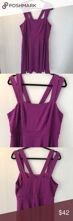 NWOT Purple Strappy Ponte Dress Bright purple ponte // stretchy knit // multi strap neckline torrid Dresses