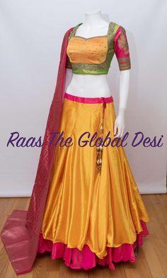 Shop Chaniya choli - handmade chaniya choli , ghaghra choli at afordable price Half Saree Designs, Sari Blouse Designs, Choli Designs, Fancy Blouse Designs, Bridal Blouse Designs, Lehenga Designs, Dress Designs, Indian Designer Outfits, Indian Outfits