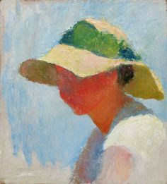 "CHARLES WEBSTER HAWTHORNE (American, 1872-1930) Woman Wearing a Sun Bonnet - ""mudhead"""