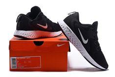 c831fb6f8532 Mens Nike Odyssey React Black Wolf Grey Dark Grey White AO9819 001 Running  Shoes Shoe Sale