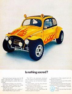 1970 Volkswagen Beetle advertisement