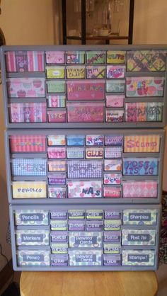 tool organizer :: tool :: storage :: organization :: work space :: colorful :: labels :: ScrapBook Organizers!