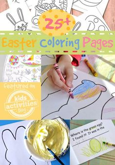 More than 25 Easter Coloring Pages for Kids - a variety of Easter coloring sheets for any celebration.