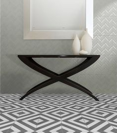 This beautiful floor has been created using Artisan - Milan in the colour Charcoal. Available in a size Design 24, Tile Design, Feature Tiles, Moroccan Style, Art Deco Fashion, Wall Tiles, Tile Floor, Flooring, Interior Design