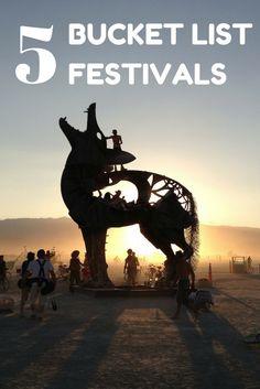 Our top 5 bucket list festivals