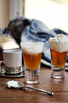 Cafe Leni {aka: Amaretto, Whipped Cream & Espresso} | a warming & very happy cocktail! FamilyFreshCooking.com