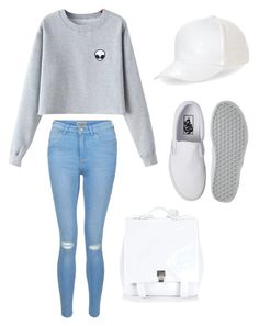 """""""white goes with everything"""" by sammillerlucas ❤ liked on Polyvore featuring Chicnova Fashion, New Look, Vans, BCBGeneration, Proenza Schouler and sammillerlucas"""