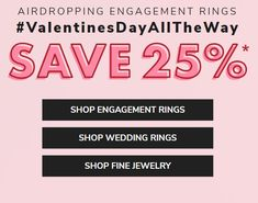 It's not too late for your Valentine - James Allen.com is offering a staggering 25% off rings. Promotion closes in a few days. Design Your Own Engagement Rings, Shop Engagement Rings, James Allen, Colored Diamonds, Promotion, Wedding Rings, Wedding Ring, Wedding Band Ring