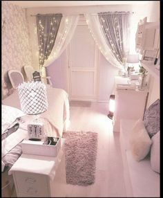 lash room decor Amazing Pink Bedrooms For Girls Discover the season's newest designs and inspirations for your kids. Pink Bedroom For Girls, Pink Bedrooms, Teen Bedroom, Master Bedroom, Purple Girl Rooms, Curtains For Girls Room, Room Ideas For Girls, Room Girls, Childrens Bedroom